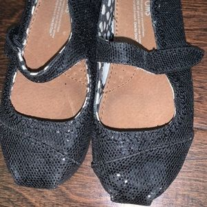 Toms toddler black sequined Mary Janes